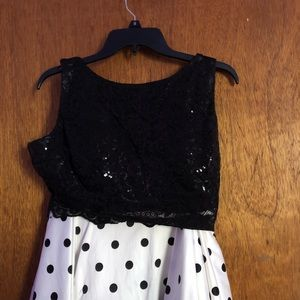 Two Piece Black and White Dress